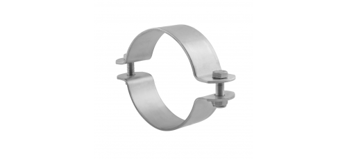 Stainless steel pipe clamps without stem