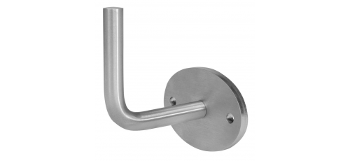 Stainless steel railing construction handrail brackets and supports oval wall plate