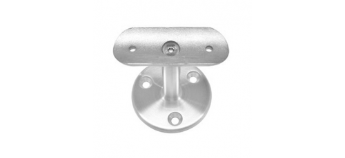 Stainless steel railing construction handrail brackets and supports with flange