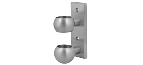 Stainless steel railing construction post clamps with plate 165x60