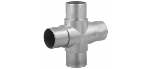 Stainless steel railing construction plug fittings X piece