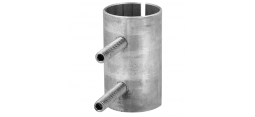 Stainless steel railing construction plug fittings with clamping screws