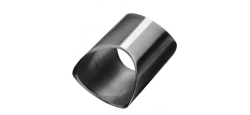 Stainless steel railing construction plug fittings for welding on