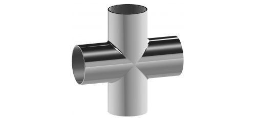 Stainless steel fittings cross-pieces long
