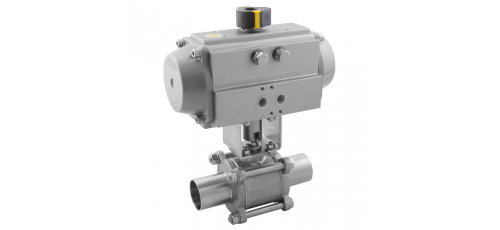 Stainless steel ball valves with actuator pneumatic orbital DIN