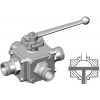 Stainless steel hecoNNECT ball valves 4-way T drill hole