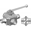 Stainless steel hecoNNECT ball valves 4-way X drill hole