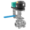 Stainless steel ball valves threaded ends with limit switch box inductive sensors