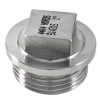 Stainless steel fittings PN 50/ 100 caps/plugs R-237 parallel, square head