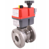 Stainless steel ball valves flanged ends automated