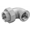 Stainless steel fittings PN 16/ 20 (ISO 4144) elbows / bends >> unions flat - F / F