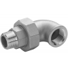 Stainless steel fittings PN 16/ 20 (ISO 4144) elbows / bends >> unions flat - F / M