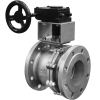 Stainless steel ball valves flanged ends with gearbox