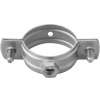 Stainless steel pipe clamps with nut