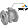 Stainless steel ball valves flanged ends DVGW