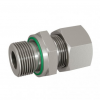 Stainless steel cutting rings straight couplings male thread with profiled ring