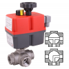 Stainless steel ball valves threaded ends 3-way automated electrical
