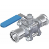 Stainless steel press fittings ball valves SS ball valve press x press