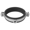 Stainless steel pipe clamps with noise control stainless steel