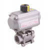 Stainless steel ball valves with actuator pneumatic
