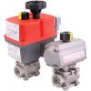 Stainless steel ball valves with actuator
