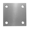 Stainless steel railing construction anchors and flanges plates plate