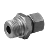 Stainless steel cutting rings straight couplings male thread BSPP DIN-ISO 228
