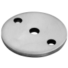 Stainless steel railing construction round blanks with holes unpolished centre/ 2 x outer holes