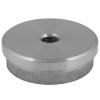 Stainless steel railing construction tube caps flat; with IG