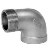 Stainless steel fittings PN 10 (ECO-Line) ...with NPT-thread elbows / bends elbows 90° F/M
