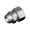Stainless steel cutting rings straight couplings welded