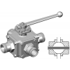 Stainless steel hecoNNECT ball valves 4-way through hole