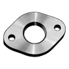 Stainless steel threaded flanges oval acc. DIN PN 6, DIN 2558