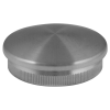 Stainless steel railing construction tube caps slightly convex
