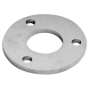 Stainless steel railing construction round blanks with holes unpolished centre/ 3 x outer holes