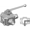 Stainless steel hecoNNECT ball valves 3-way L drill hole connection: hecoNNECT