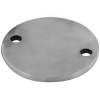 Stainless steel railing construction round blanks with holes unpolished 2 x outer holes