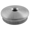 Stainless steel railing construction tube caps slightly convex, with IG