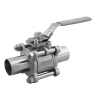 Stainless steel hecoNNECT ball valves