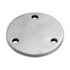 Stainless steel railing construction round blanks with holes unpolished 3 x outer holes