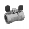 Stainless steel ball valves threaded ends 1-piece & reduced bore with butterfly handle