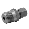 Stainless steel cutting rings straight couplings male thread NPT-thread
