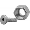 Stainless steel fittings PN 16/ 20 (ISO 4144) nozzles with loose nut