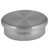 Stainless steel railing construction tube caps flat