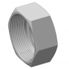 Stainless steel hecoNNECT couplings indiv. parts cap nut