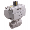 Stainless steel ball valves with actuator pneumatic threaded ends & 2-piece standard