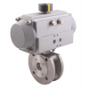 Stainless steel ball valves with actuator pneumatic flanged ends, 1-piece