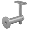 Stainless steel railing construction handrail brackets and supports height-adjustable for wall