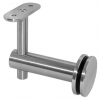 Stainless steel railing construction handrail brackets and supports height-adjustable for glass