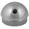 Stainless steel railing construction tube caps semicircular, with IG